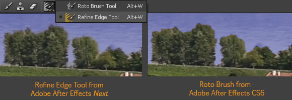 After Effects Next Refine Edge Tool