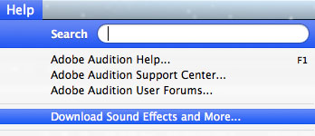 Audition Download Sound Effects and More