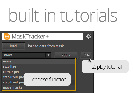 built-in tutorials