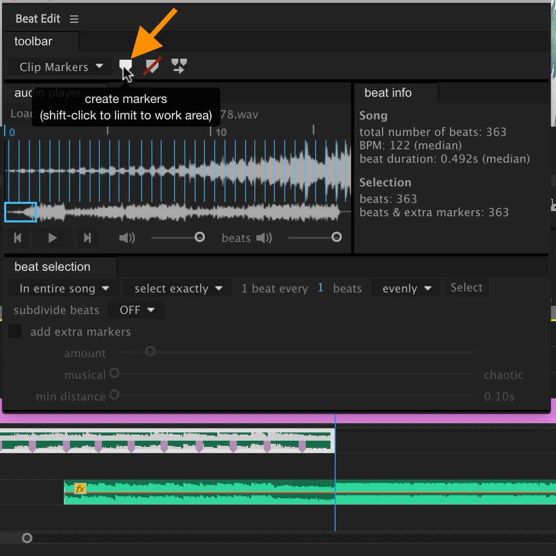 Create beat markers with BeatEdit 2 for Premiere Pro